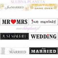 Tablice rejestracyjne JUST MARRIED, GAME OVER, WEDDINg