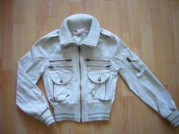 Весенняя джинсовая / котоновая куртка, 158 см