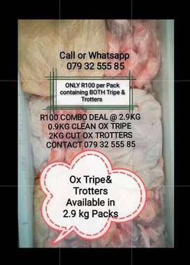 Clean, Fresh Ox Tripe & Trotters for sale @ R100