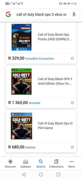 Xbox one game : call of duty black ops