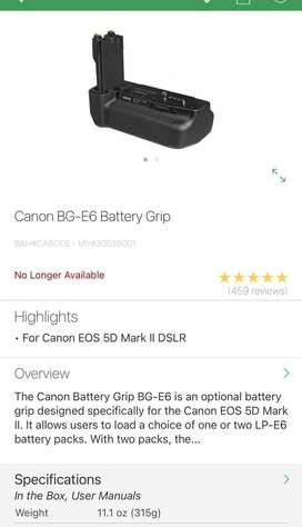 Additional Battery Grip Canon 5Dii