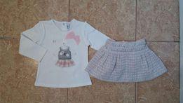 Стильный комплект Mayoral: реглан лонгслив и юбка юбочка для модницы