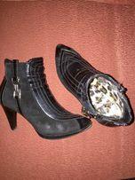 Ботильоны ботинки кожа