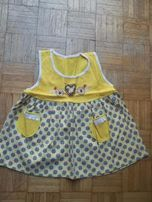 Sukienka żółta na lato na 1-2 lata
