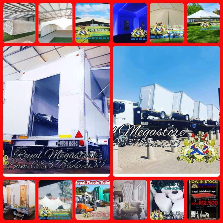 August Stretch Frame Marquee Canvas Pole Tents Vip Chemical Toilets 0