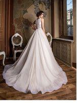 Шикарное свадебное платье со шлейфом!