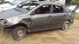 T54- Toyota Corolla 2003 Stripping 4 Spares