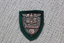 Tarcza Niemiecka naramienna Breslau 1933 Warschau 1944 II wś III Rzesz