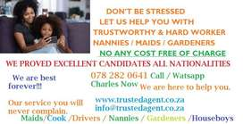 GET HARD WORKER NANNIES / MAIDS NOW