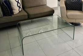 Elegant tempered glass coffee table