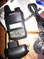 Радиостанция BAOFENG T1 Mini дальность 1 -3 км. Время работы 12 часов
