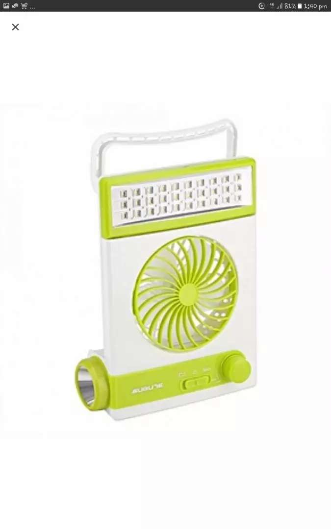 Mini rechargeable fan with light 0