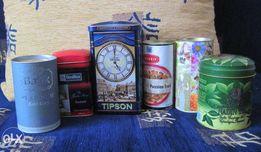 Продаются коллекция жестяных коробок из-под чая