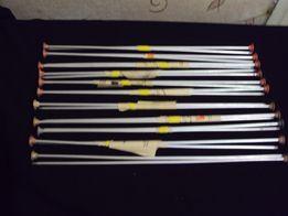 Спицы вязальные №4 и набор №3,5, крючки