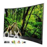 65 inch TCL Curved Smart led TV 0