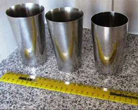 Stainless Steel Drinking Glass x 3